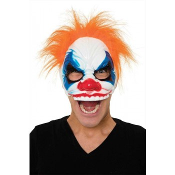 Evil Clown Mask + Hair Fancy Dress Halloween
