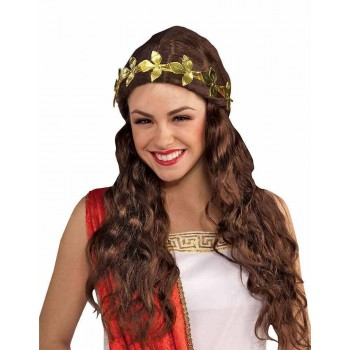 Gold Leaf Headband Metal Fancy Dress Accessory
